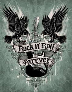 I Absolutely LOVE Rock/ Metal Music it's one of my Favourite Genres of Music to listen too Ever❤️👍🏻😊😁🎶🎸 There are so many Rock/ Metal songs/Bands that I listen too and I love there music. Rock Roll, Pop Rock, Rock N Roll Music, Rock And Roll Tattoo, Rock Tattoo, Volbeat Tattoo, Style Punk Rock, Goth Style, Rock Chick
