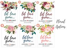 Let Love Grow Custom Seed Wedding Favors 50 Count by PlainJane2424