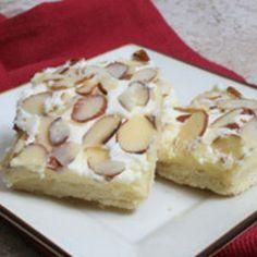 Cream Cheese Almond Bars Recipe