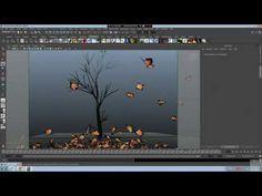 ▶ Maya nCloth Tree Animation + falling Leaves - YouTube