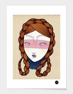 """The red hair"" - Numbered Art Print by Elena Mir on Curioos"