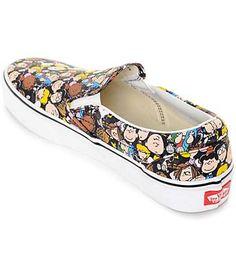 a022ed84ec0 Vans X Peanuts Slip On The Gang Shoe Vans Old Skool