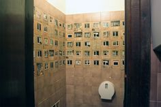 """""""WC For Architects"""": Old Toilet Wall Decorated With Photos Of Windows From The Neighbourhood – Design You Trust"""
