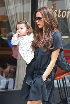 Victoria Beckham Carrying Baby Harper at JFK Photo 2