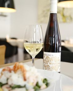 A dry Riesling with crisp, refreshing acidity. White Wine, Wines, Crisp, Alcoholic Drinks, Glass, Drinkware, Corning Glass, Alcoholic Beverages, Liquor