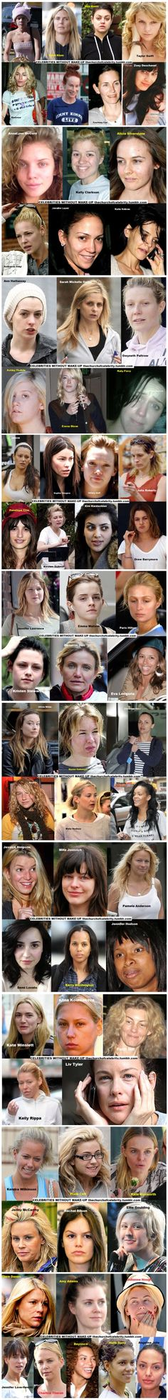 Even actual celebrities don't look like celebrities without the expensive makeup and photoshop.