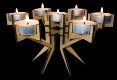 lasercut candle holder. $12,00, via Etsy.