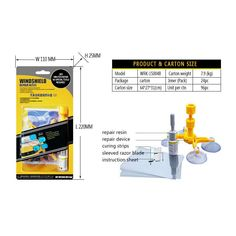 Item Type: Fillers, Adhesives & Sealants Model Name: Windshield Repair Tool External Testing Certification: ce Item Weight: 65 Special Features: Kits Glass For Chip Crack Brand Name: CARPRIE type: Windshield Repair Tool Model: Material: PP Package: Windshield Glass, Windshield Repair, Leadlight Windows, Auto Glass, Car Glass, Glass Repair, Diy Home Repair, Diy Car, Tool Kit