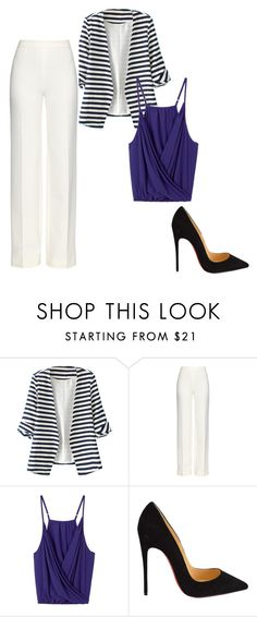"""""""Sin título #497"""" by hillary-espinoza on Polyvore featuring moda, WithChic, Diane Von Furstenberg y Christian Louboutin"""