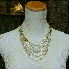 Hp Amrita Singh Meredith Necklace Gold Crystal