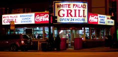 White Palace Grill Corner of Roosevelt and Canal Streets Grill Breakfast, Breakfast For Dinner, Chicago Today, Best Diner, My Kind Of Town, Coffee Tasting, Soda Fountain, Chicago Illinois, Vacation Places
