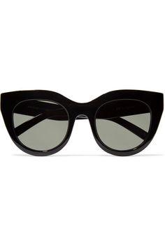 Cat-eyed svarta solglasögon med riktiga glas- lika de jag har