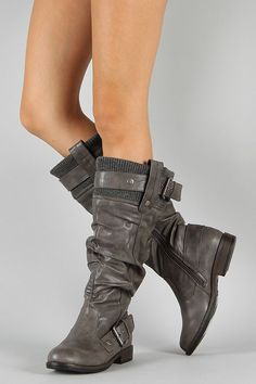 Do you know how hard it is to find cute grey flat boots? VERY.