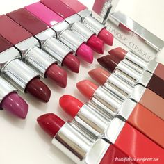 Clinique Pop Lip Colour + Primer. Def gotta try these! Especially Cola pop and Wow pop.