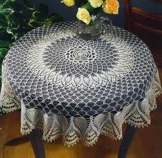 Croche maravilha de arte: Toalha de mesa ... com gráfico
