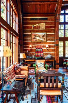 An Authentic Rustic Home in Jackson Hole - Mountain Living Home Design Decor, Rustic Home Design, Decoration Design, Rustic Decor, House Design, Home Decor, Rustic Homes, Design Ideas, Rustic Cabins