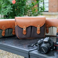 Canvas Camera Bag - The DSLR Canon Camera Bags - Vintage Leather Camera Bag