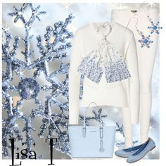 """Winter White"" by lkthompson on Polyvore"