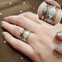 37 combinações de anéis para usar com sua aliança de noivado