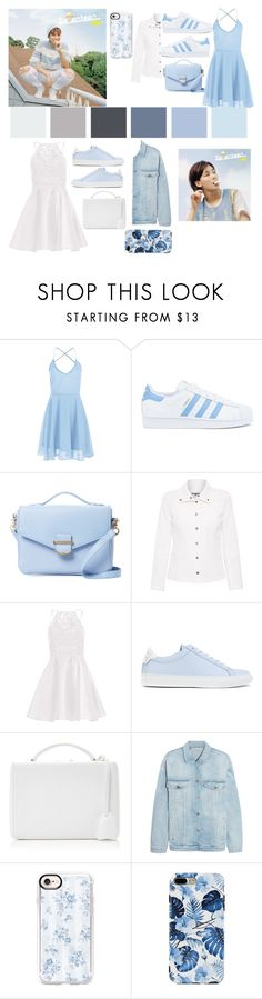 """""""seventeen- pastel blue"""" by egsmith520 ❤ liked on Polyvore featuring adidas, Cynthia Rowley, ELLIOTT LAUREN, Alyce Paris, Givenchy, Mark Cross, STELLA McCARTNEY and Casetify"""
