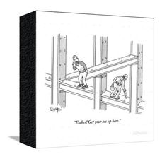 """Escher! Get your ass up here."" - New Yorker Cartoon Poster Print by Robert Leighton at the Condé Nast Collection"