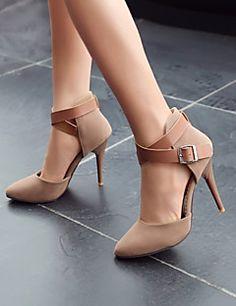 Calçados Femininos - Saltos - Saltos / Coturno / Bico Fino / Bico Fechado - Salto Agulha - Colorido - Camursa Sintética -Escritório &