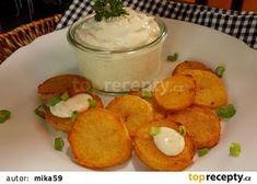 Falešná tatarka recept - TopRecepty.cz Potato Salad, Menu, Potatoes, Pudding, Ethnic Recipes, Desserts, Food, Dressing, Creative