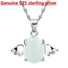 kastm brand 925 sterling silver cats eye opal angel pendant necklace wholesale ksn017