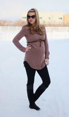 Maternity Outfit via Perfection Possibilities