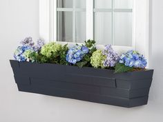 Beautify patios and outdoor spaces with window boxes made from commercial-quality fiberglass. Flower box containers like these are perfect for window gardening, and they include stainless steel cleat hanger brackets for quick wall or fence installations. Starting a deck or balcony garden? All you need to turn these into railing planters is a pair or two of metal railing brackets to hang planters, allowing you to create your own outdoor oasis. Add a self-watering reservoir for planters that…