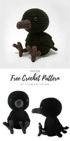 Halloween Crochet Patterns, Crochet Animal Patterns, Crochet Patterns Amigurumi, Crochet Animals, Crochet Dolls, Knitting Patterns, Kawaii Crochet, Cute Crochet, Crochet Crafts