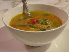 Supa de linte Thai Red Curry, Vegan, Ethnic Recipes, Soups, Food, Essen, Soup, Meals, Vegans
