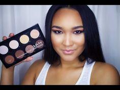 Nyx Cosmetics Highlight & Contour Pro Kit Review & Demo - YouTube
