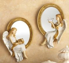 Collections Etc Mirrored Heavenly Wall Angels - Set of 2 ... http://www.amazon.com/dp/B00K118TSS/ref=cm_sw_r_pi_dp_gc7lxb1MA8P65