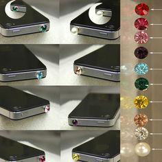 New Anti Dust Plug Gem Crystal Rhinestone Earphone Jack Mobile Phone Charm Bling | eBay