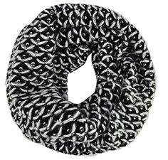 Classic Soft Knit Black White Cosy Snood Cowl Loop Scarf Gorgeousgalz http://www.amazon.co.uk/dp/B015EENZFI/ref=cm_sw_r_pi_dp_fsOawb1J6QHF6