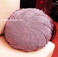 *** Marrom Rose***: Capas de almofada de crochê, lindas! …