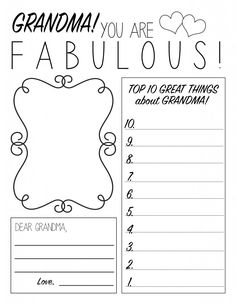 Mothers Day Printable Worksheet