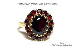Hey, I found this really awesome Etsy listing at https://www.etsy.com/listing/178020095/14k-solid-yellow-gold-garnet-ring-with-4
