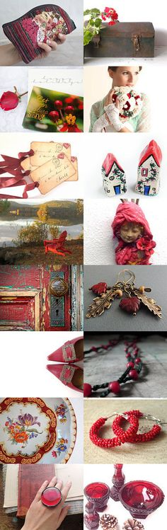 Red is the new black by Roberta Aiello on Etsy--Pinned with TreasuryPin.com