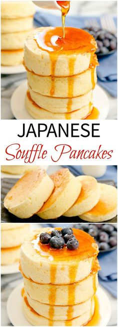 the 4 Cycle Solutions Japanese Diet - Japanese Souffle Pancakes. Incredibly light and fluffy. Make these popular trendy pancakes at home! Discover the Worlds First & Only Carb Cycling Diet That INSTANTLY Flips ON Your Bodys Fat-Burning Switch Souffle Pancakes, Pancakes And Waffles, Pancakes Easy, Egg White Pancakes, French Pancakes, Buttermilk Pancakes, Brunch Recipes, Breakfast Recipes, Dessert Recipes