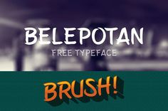 Belepotan Free brush font with extended license