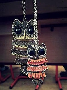 Cheap Retro Cute Owl Sweater Necklace For Big Sale!Retro Cute Owl Sweater Necklace can go with any sweater or cardigans. It is perfect gift for her in winter Owl Jewelry, I Love Jewelry, Animal Jewelry, Jewelry Accessories, Jewlery, Bohemian Jewelry, Owl Necklace, Cute Necklace, Owl Earrings
