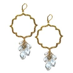 Sophia and Chloe, Kiss gold hoop, chandelier earrings.  Wanted a decadent cascade of bling on these.