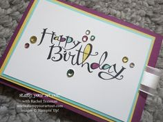 Ghirardelli treat holder made with Blendabilities colored rhinestones and Sassy Salutations stamp set #stampyourartout #stampinup - Stampin' Up!® - Stamp Your Art Out! www.stampyourartout.com