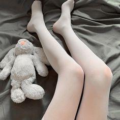 [leggycozy] High Quality Kawaii Partially Transparent Thigh High Silk Silk Stockings, Thigh Highs, Thighs, Kawaii, Slim, Black And White, Fashion, Black White, Moda
