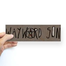Shop Wayward Son Sticker (Bumper) designed by waywardson. Lots of different size and color combinations to choose from. Car Bumper Stickers, Car Decals, Supernatural Tv Show, White Vinyl, Sticker Design, Sons, Entertaining, Crafty, Prints