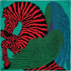 Zebra Pegasus - Red, Green and Blue