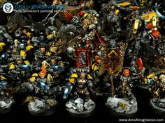 Den of Imagination - Gallery Warhammer 40k Space Wolves, Warhammer 40000, Military Art, Military History, Wolf Painting, Painting Services, Crusaders, Space Marine, Marines