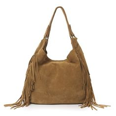 Hippy Style Suede Fringed Bag